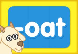 """Turn & Learn – Word Family """"oat"""""""