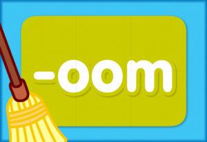 """Turn & Learn – Word Family """"oom"""""""