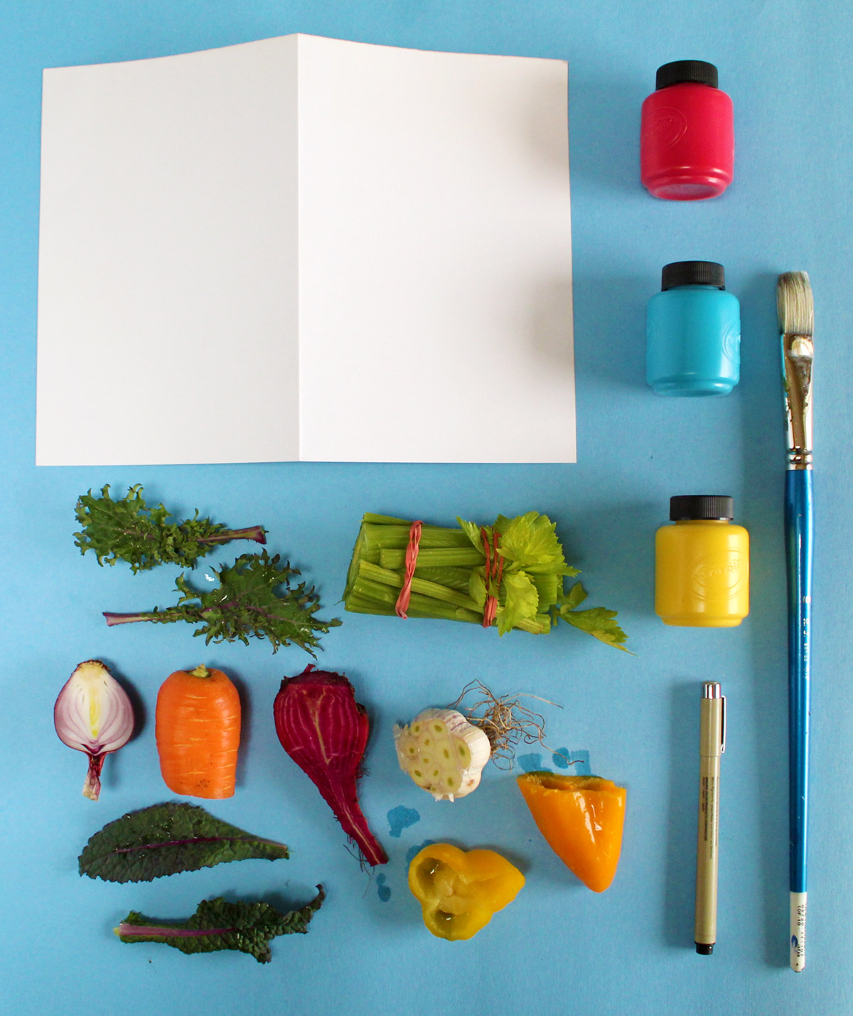 Cut Vegetable Card Supplies