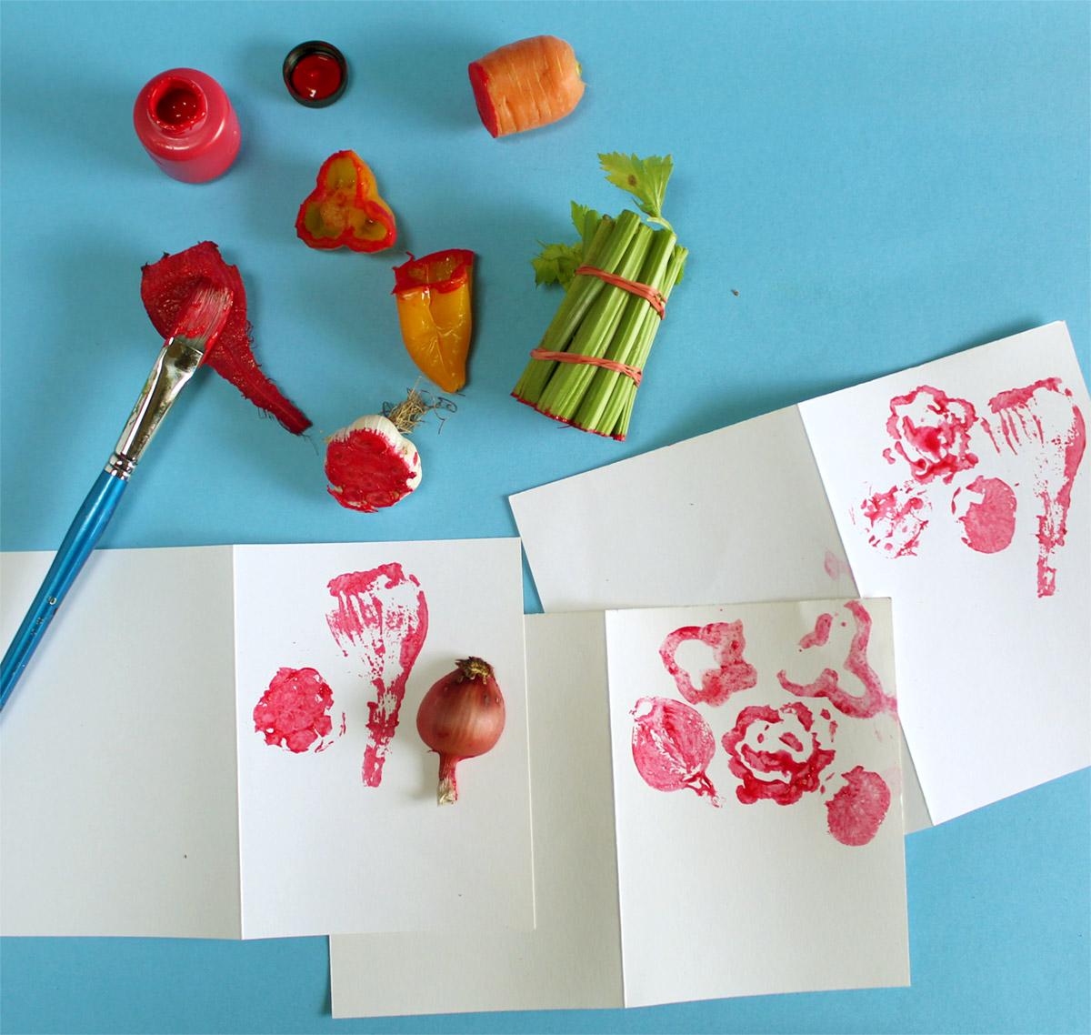 Paint the Cut Vegetables