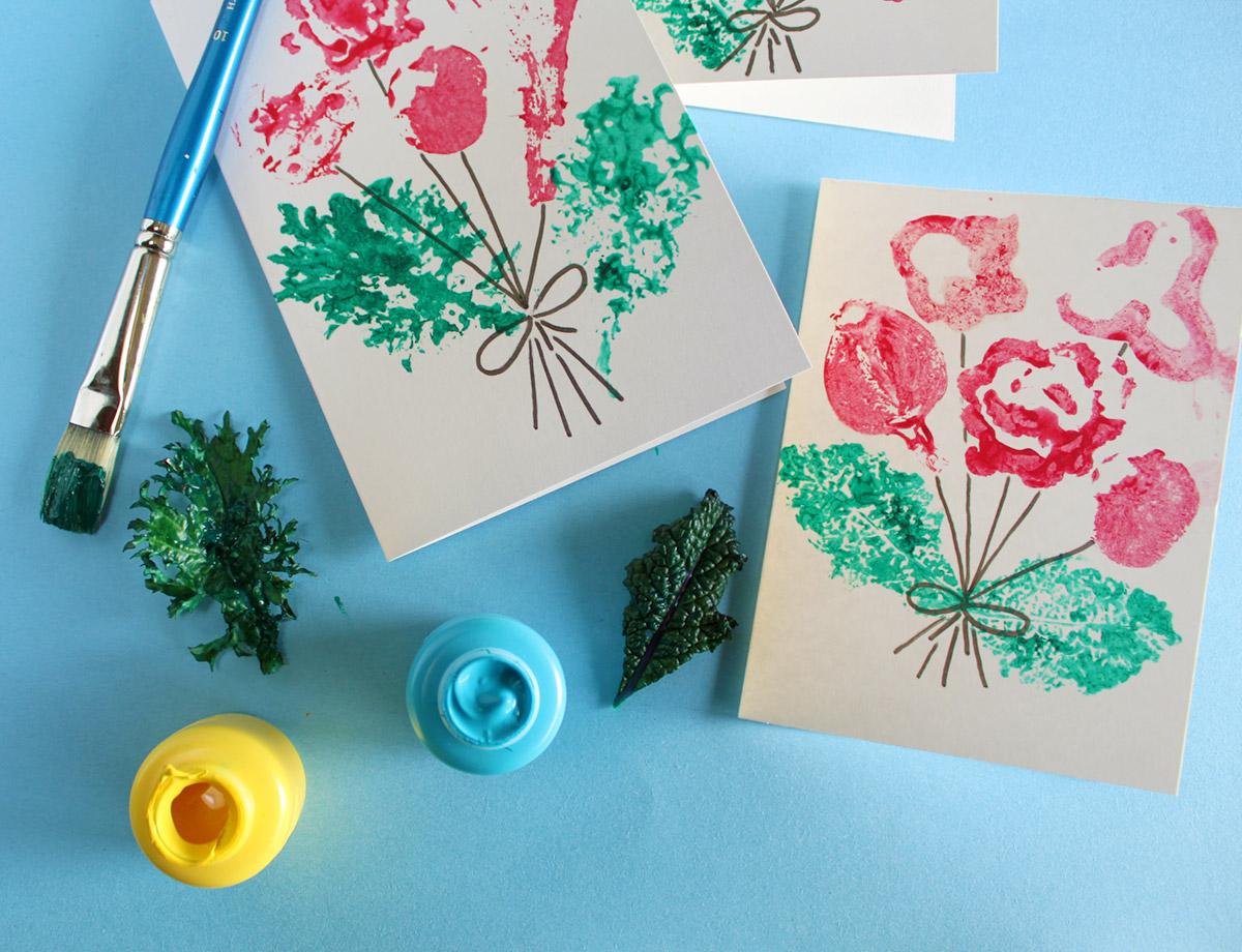 Cut Vegetable Cards - Leaves