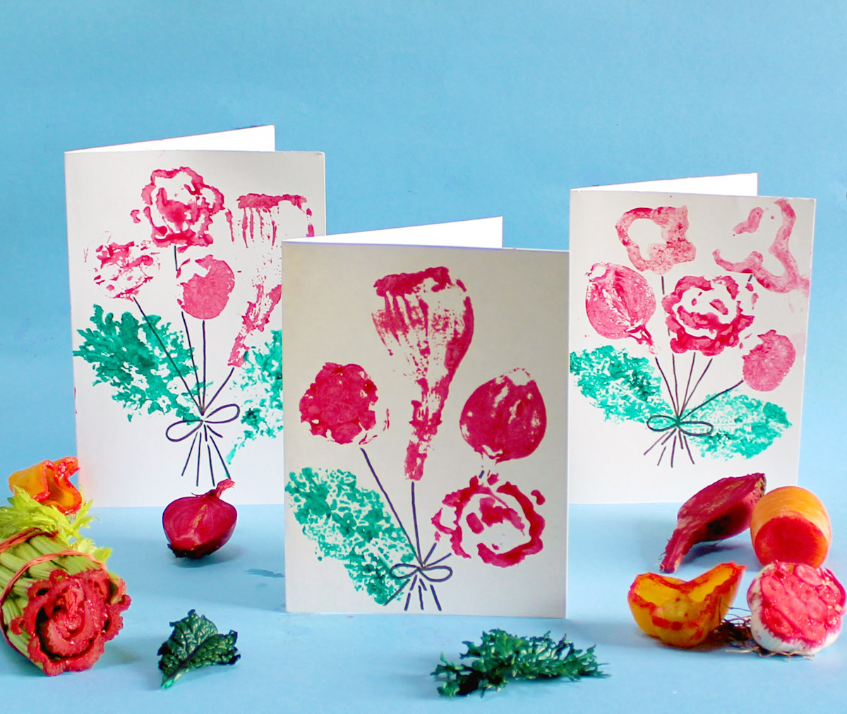 Cut Vegetable Cards