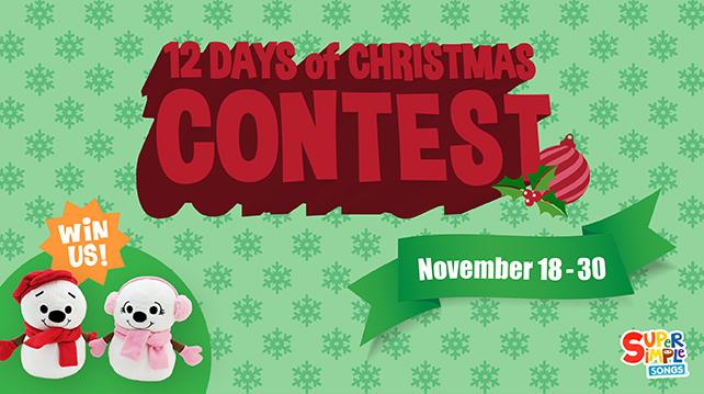 12 Days Of Christmas Contest from Super Simple Songs