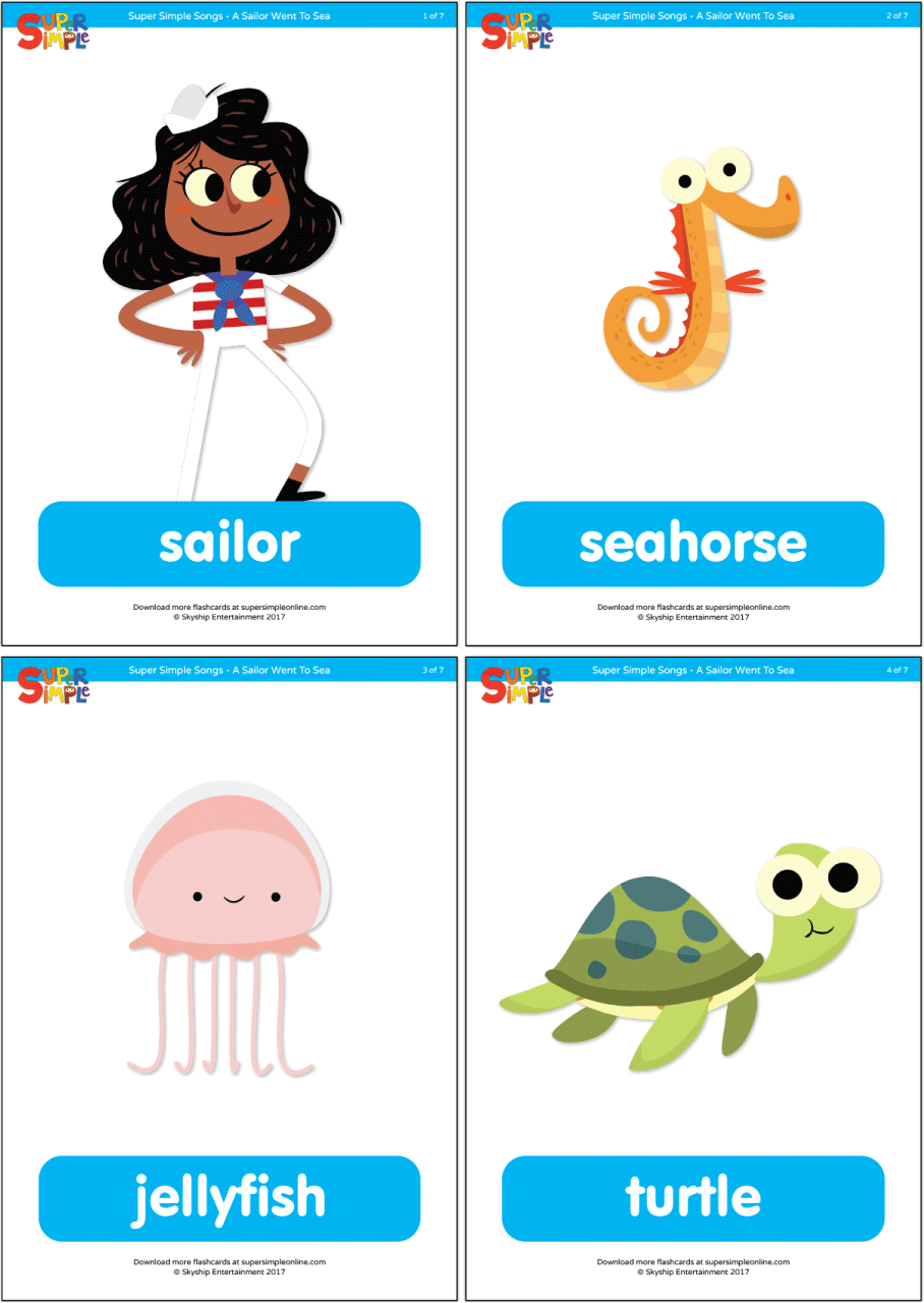 A Sailor Went To Sea Flashcards Super Simple