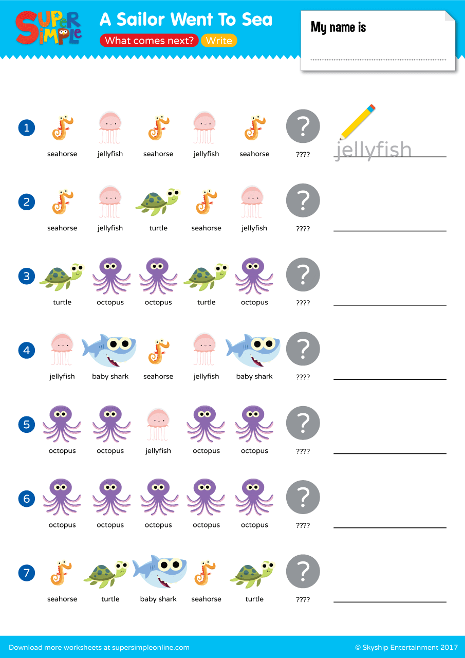 Worksheets | Resource Type | Super Simple