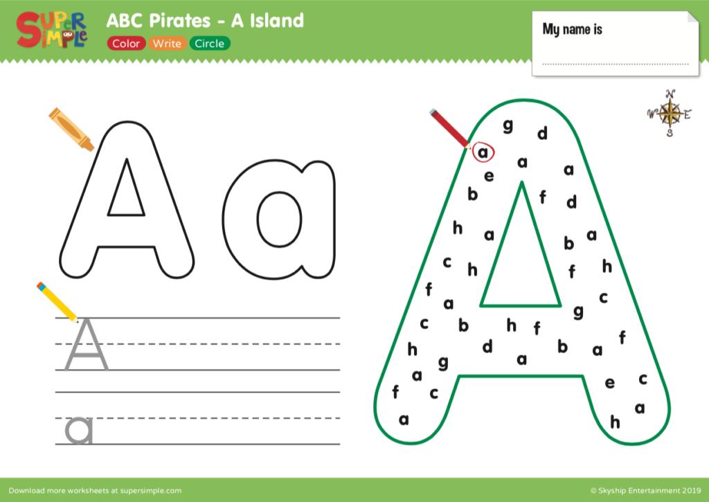 ABC Pirates A Island Worksheet