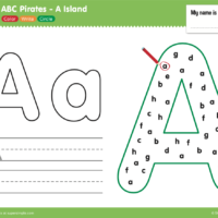 ABC Pirates A Island Worksheet