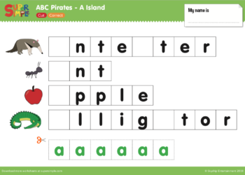 "Captain Seasalt and the ABC Pirates ""A"" - Cut, Correct"