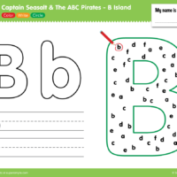 B Island Worksheet - Color, Write, Circle