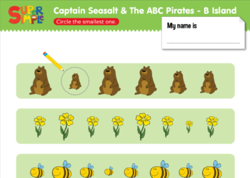 """Captain Seasalt And The ABC Pirates """"B"""" - Smallest"""