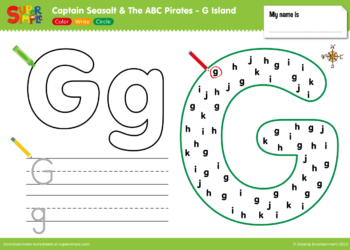 "Captain Seasalt And The ABC Pirates ""G"" - Color, Write, Circle"