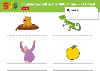 "Captain Seasalt And The ABC Pirates ""G"" - Write"