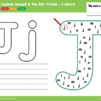 "Captain Seasalt And The ABC Pirates ""J"" - Color, Write, Circle"