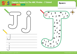"Captain Seasalt And The ABC Pirates ""J"" - Color, Write, Circle"