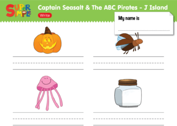 "Captain Seasalt And The ABC Pirates ""J"" - Write"