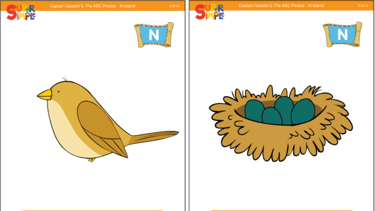 "Captain Seasalt And The ABC Pirates ""N"" Flashcards"