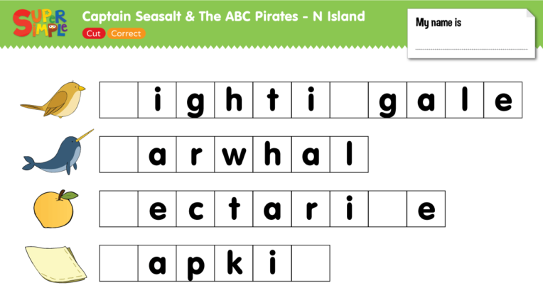 "Captain Seasalt And The ABC Pirates ""N"" - Cut, Correct"
