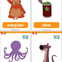 "Captain Seasalt And The ABC Pirates ""O"" Flashcards"