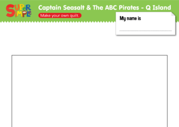 "Captain Seasalt And The ABC Pirates ""Q"" - Draw"