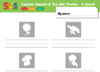 "Captain Seasalt And The ABC Pirates ""S"" - Cut, Correct"