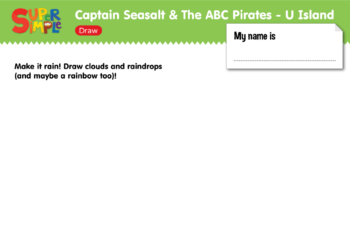 "Captain Seasalt And The ABC Pirates ""U"" - Draw"
