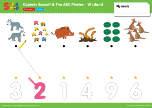 "Captain Seasalt And The ABC Pirates ""W"" - Connect, Color"