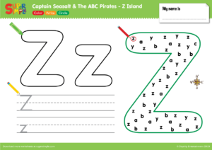"Captain Seasalt And The ABC Pirates ""Z"" - Color, Write, Circle"