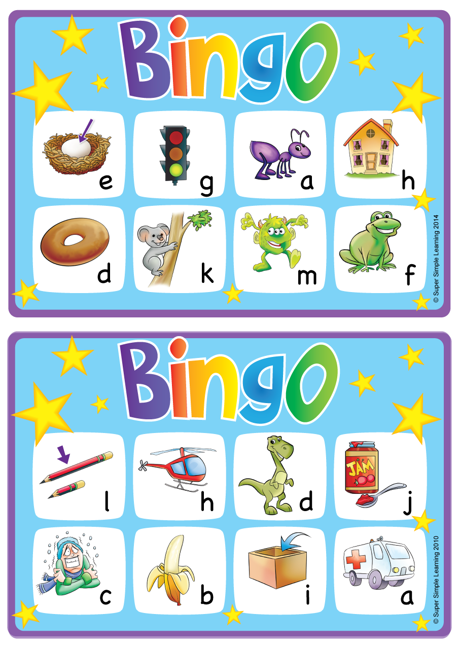 AlphabetVocabulary Bingo Game