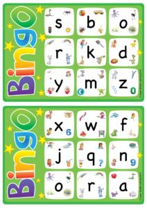 Alphabet Vocabulary Bingo Game Lowercase Letters A Z
