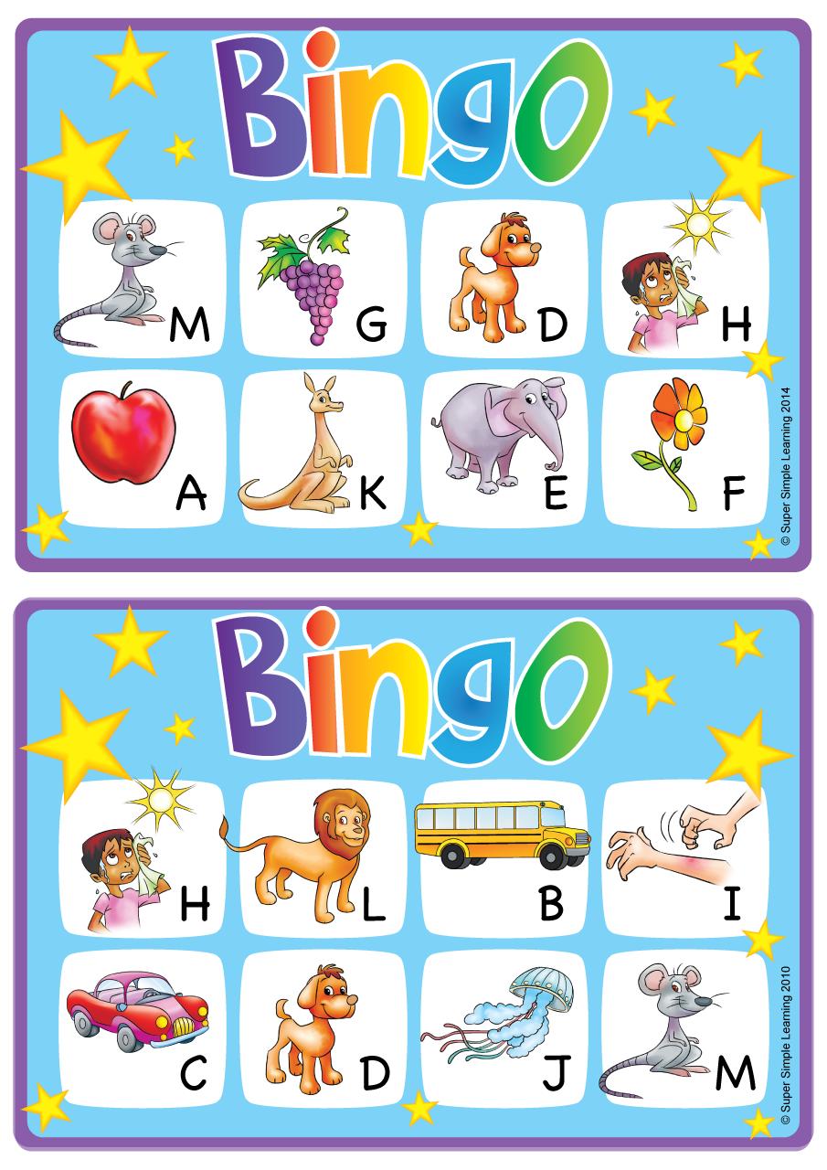Alphabet Vocabulary Bingo Game Uppercase Letters A M