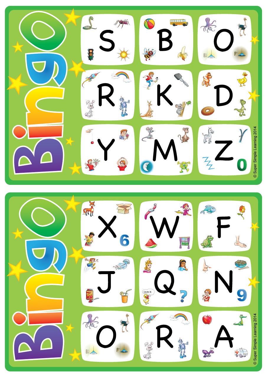 Games crafts resource type super simple alphabetvocabulary bingo game uppercase letters a z spiritdancerdesigns Image collections