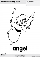 angel coloring page - Coloring Pages Simple