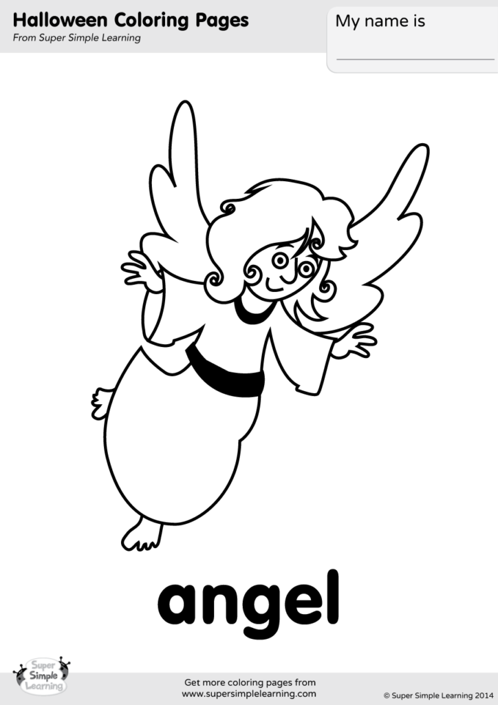 Angel Coloring Page Super Simple