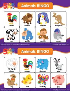 Wild image for animal bingo printable