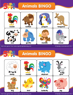 photograph regarding Animal Cards Printable known as Animal BINGO Playing cards - Tremendous Basic