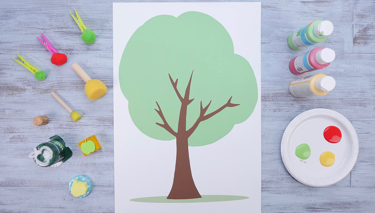 apple tree stamps
