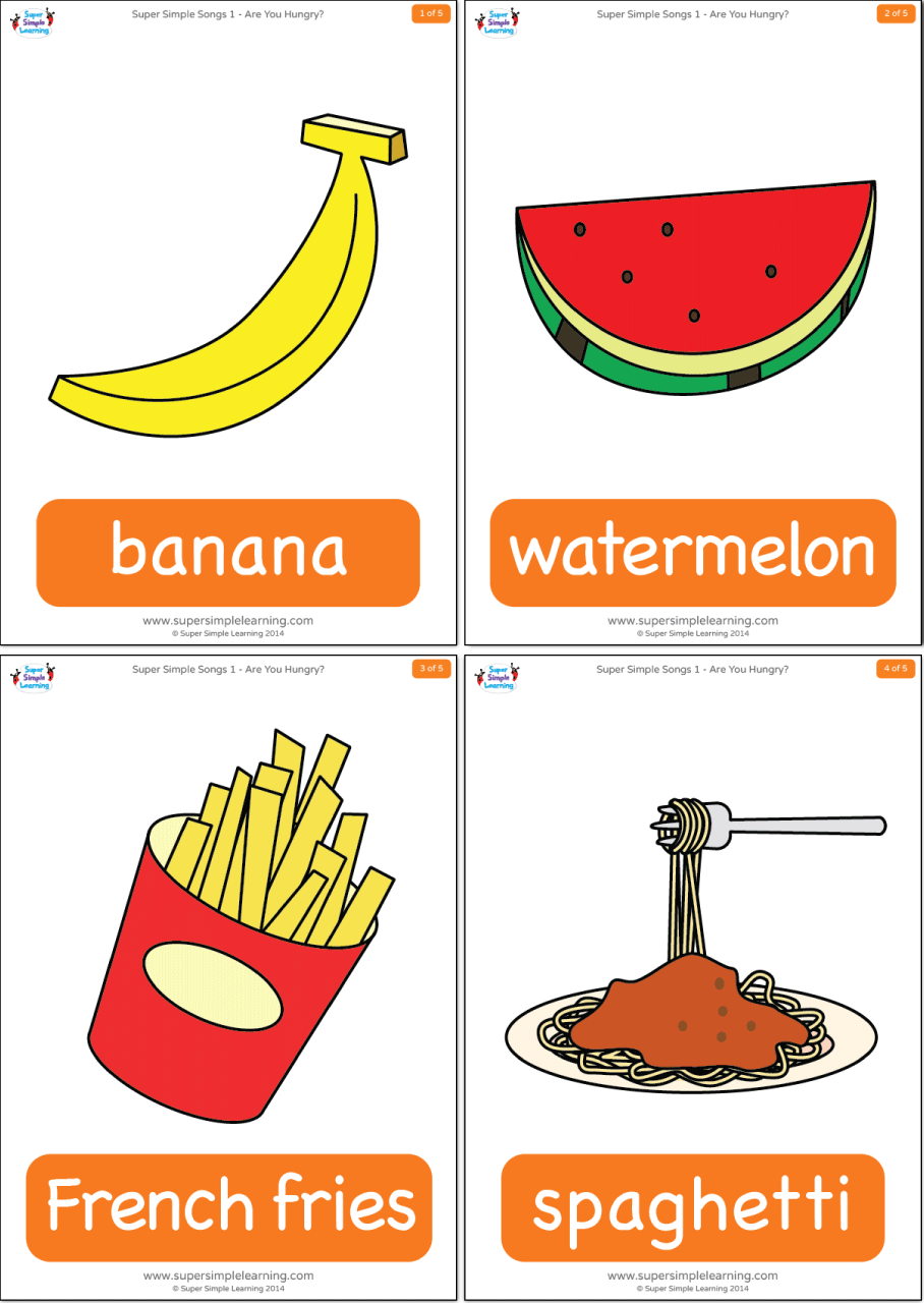 Are You Hungry? Flashcards - Super Simple