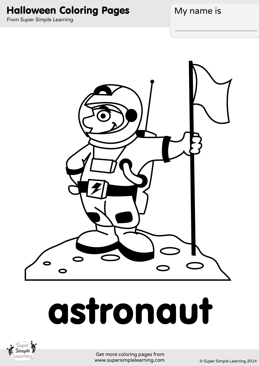 Astronaut Coloring Page Super Simple