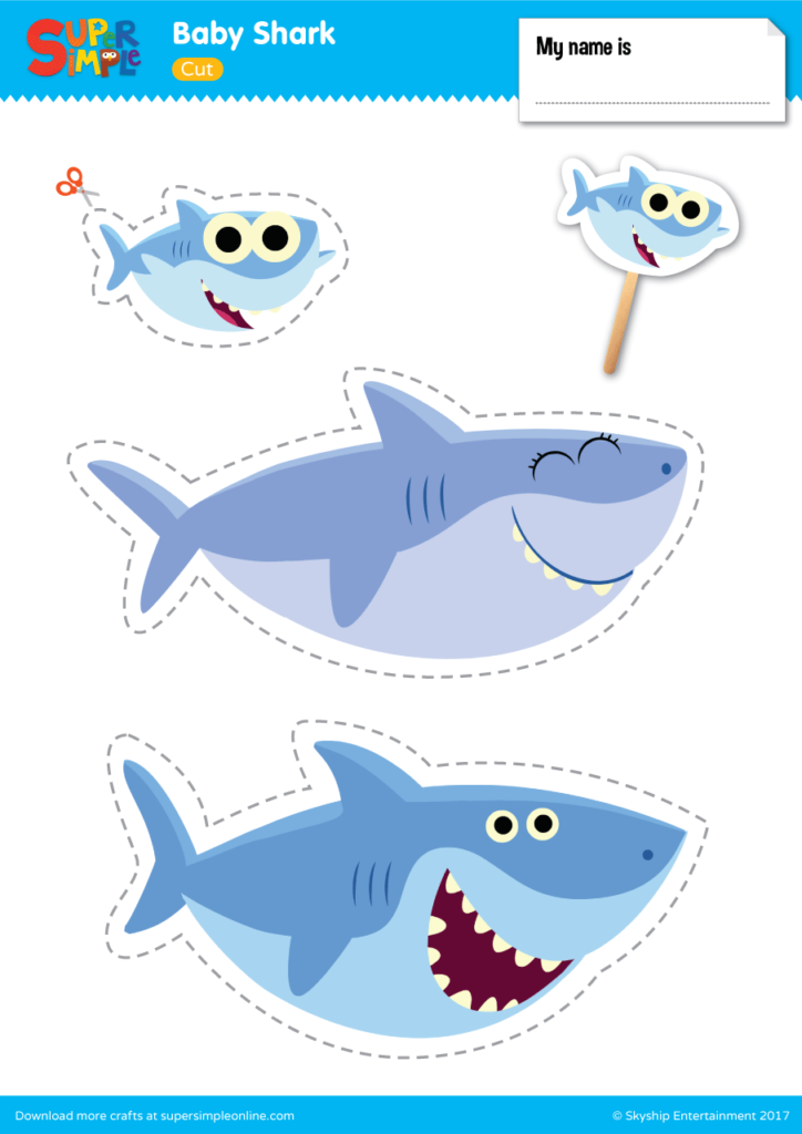 photo relating to Shark Printable named Boy or girl Shark Perform Fastened - Tremendous Basic