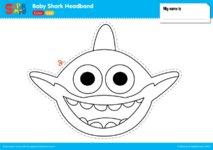 shark hat craft template - baby shark headband super simple