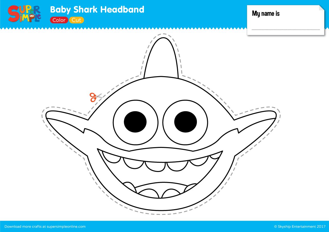 Baby Shark Headband Super Simple