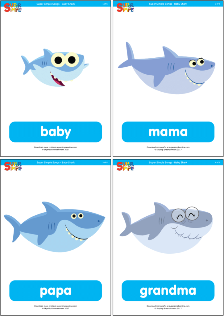 Baby Shark Family Flashcards