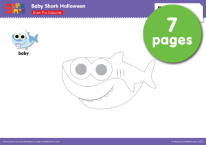 Baby Shark Halloween Draw The Costume Super Simple