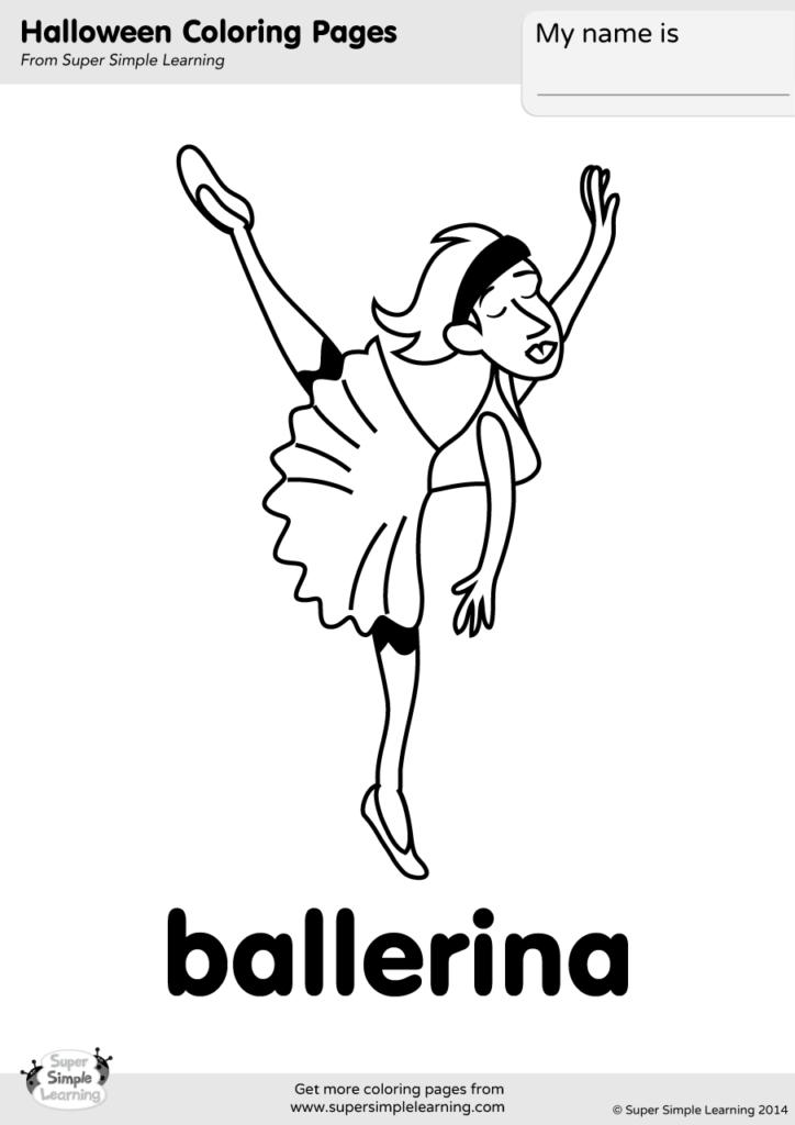 Ballerina Coloring Page Super Simple