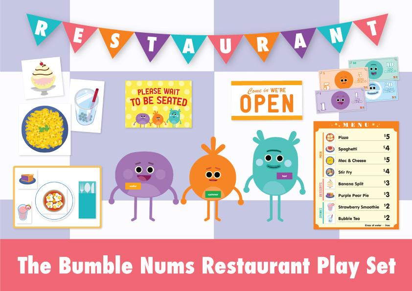 The Bumble Nums Restaurant Play Set Super Simple
