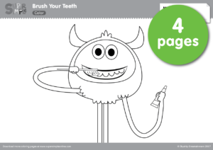 Brush Your Teeth Coloring Pages | Super Simple