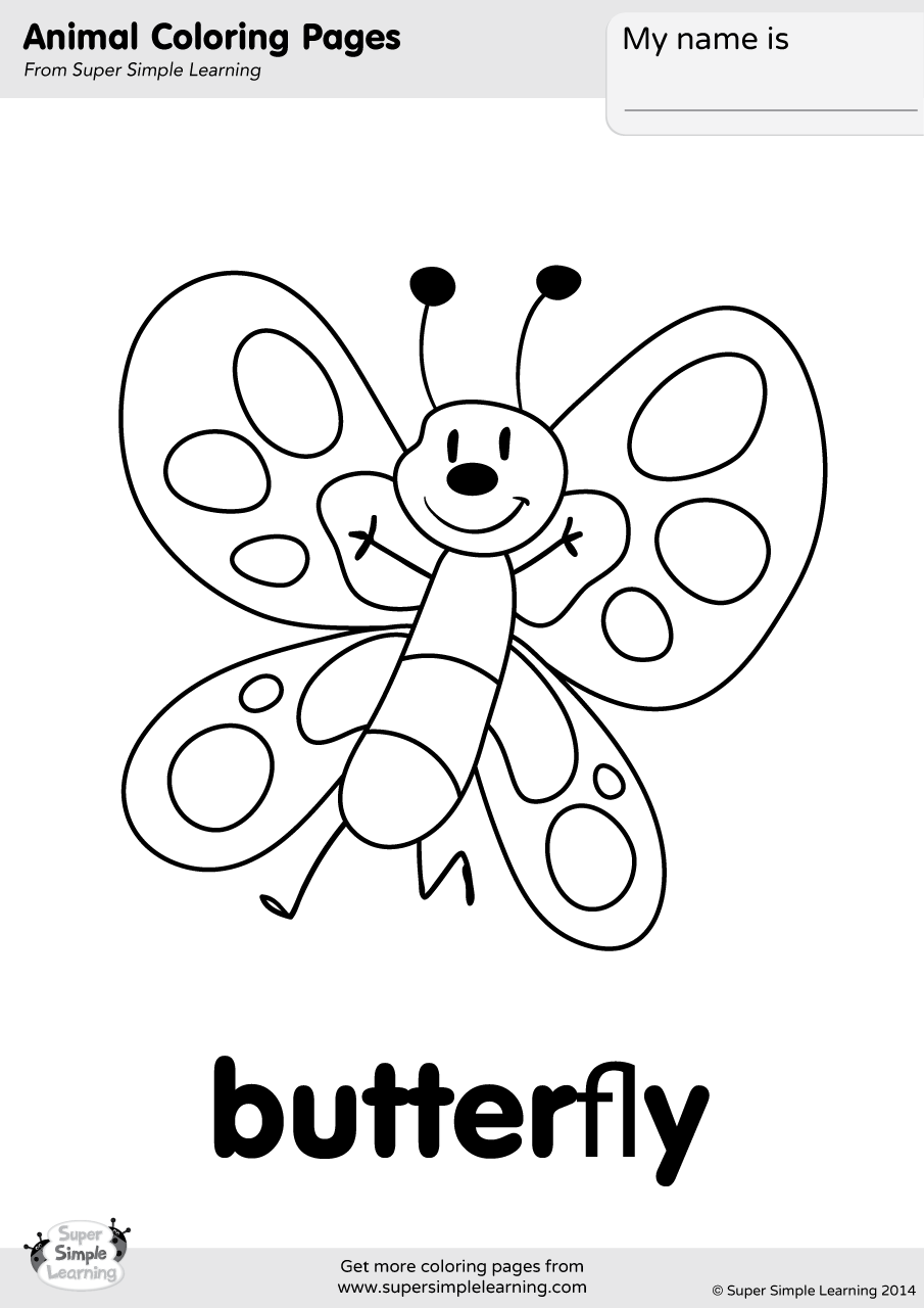 Butterfly Coloring Page Super Simple
