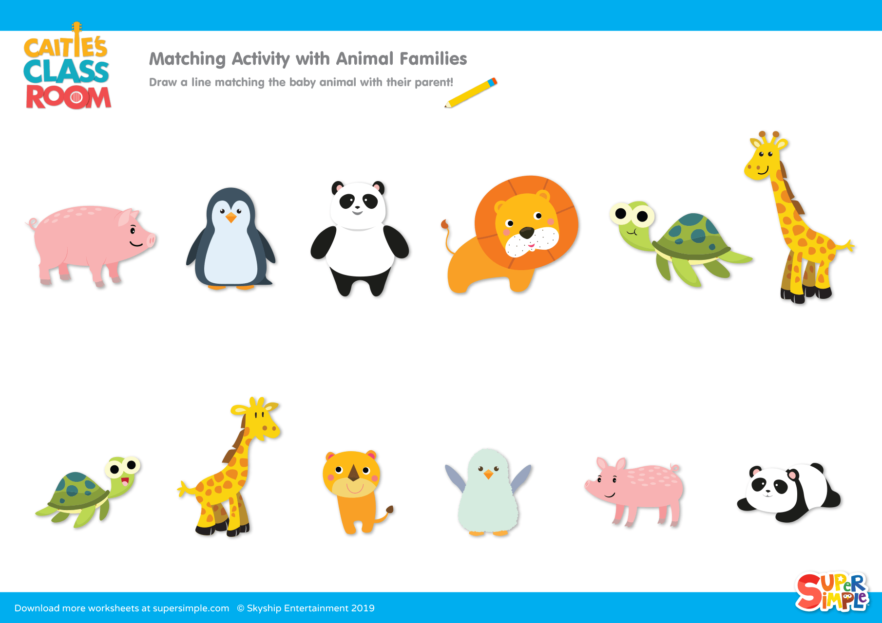 Matching Activity with Animal Families - Super Simple
