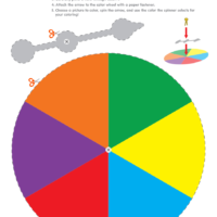 Color Spinner for Creative Coloring with Coloring Page