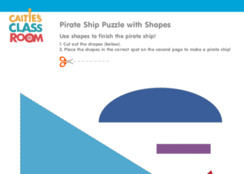 Pirate Ship Puzzle with Shapes